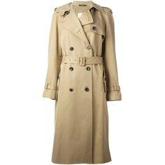 Maison Margiela belted trench coat ($1,630) ❤ liked on Polyvore
