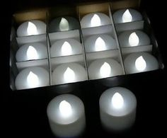 50 WHITE FLAME LED battery candle wedding event party table outdoor weather proo