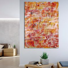 Somewhere in Between (Orange Refractions) (2021) - ABSTRACT ART - NESTOR TORO - LOS ANGELES Abstract Art For Sale, Abstract Styles, Large Painting, Acrylic Painting Canvas, Abstract Painters, Paintings For Sale, Abstract Expressionism, Artwork, Figurative