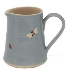Jane Hogben Ladybird and Bee Small Jug Blue