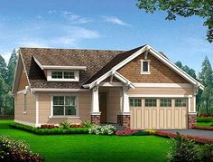 Simple Craftsman Cottage with Options - 23259JD | Cottage, Craftsman, Narrow Lot, 1st Floor Master Suite, CAD Available, PDF | Architectural Designs