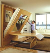 murphy bed and table combo