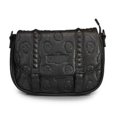 Loungefly Skull Embossed Black Crossbody Bag - Bags Black Crossbody 39f70c405f65c