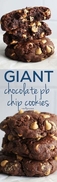 Giant chocolate peanut butter chip cookies