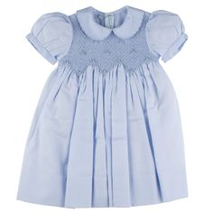 Shop Now Feltman Brothers Scalloped Pearl Smocked Dress Gap Dress, Smock Dress, Dress Skirt, Smocked Baby Clothes, Smocked Dresses, Little Girl Dresses, Girls Dresses, Vintage Baby Clothes, Vintage Girls