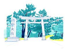 sakiko + pen - izumo shrine / shimane, japan