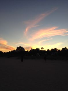 Gorgeous sunset in Miami - South Beach January 2014
