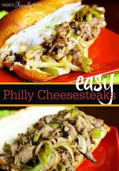 These Philly Cheesesteak sandwiches are AMAZING and SO easy. Your family is going to love this recipe.