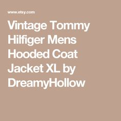 Vintage Tommy Hilfiger Mens Hooded Coat Jacket XL by DreamyHollow