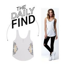 """""""Daily Find: Billabong Scoop Tank Top"""" by polyvore-editorial ❤ liked on Polyvore featuring Billabong and DailyFind"""