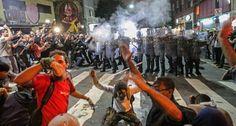 Continúan las protestas en Sao Paulo a pocos días del Mundial