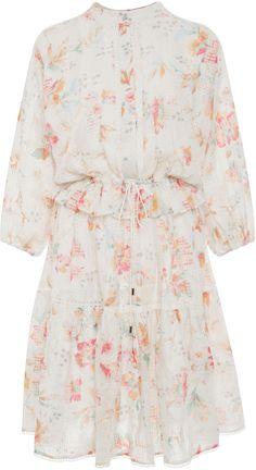 Zimmermann Silk Cotton Voile Belle Floral Dress