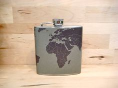 The World is in Your Hands Flask $17.95