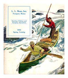 Clear Lake California Retro Pin Up Travel Poster Redhead Canoe Art Print 243