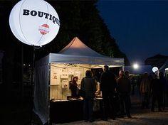 Ballon lumineux sur trépied | festival Jazz au pays