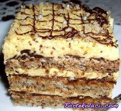 Polish Desserts, Fun Desserts, Dessert Recipes, Torte Recepti, Kolaci I Torte, Baking Recipes, Cookie Recipes, Kiflice Recipe, Torta Recipe