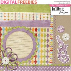 Falling for You - Digital Scrapbooking Freebie