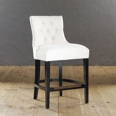 The couture curves of our Gentry Counter Stool were inspired by our best-selling Gentry Chair. Button-tufted back is gently bowed and sweeps out at the seat for reassuring comfort.