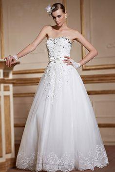 Tossa Robe de mariée bustier longue en dentelle florale vintage                                                                                                                                                                                 Plus