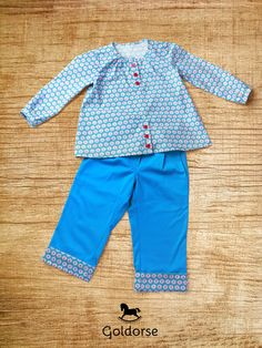 Miracle Blue Field. Our handmade clothing for kid. $30