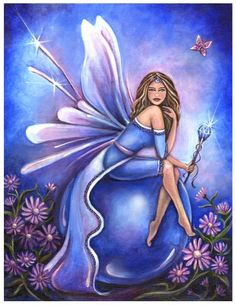 Sapphire (September) Birthstone Fairy by Jennifer Galasso