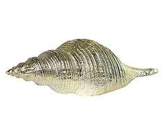 Decoratief object Shell Annika, goud, L 26 cm