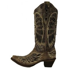 CORRAL Boy/'s Girl/'s Black Brown Embroidered Wing Cross Western Boots G1053 NIB