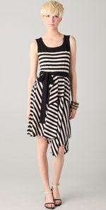 DKNY Striped Sleeveless Jersey Dress | SHOPBOP