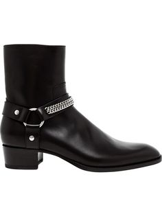 SAINT LAURENT Polished Leather Rock Boot