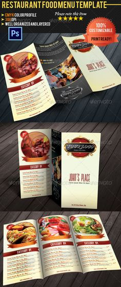 Restaurant Menu \ Business Card Restaurant, Business and Cards - sample cafe menu template