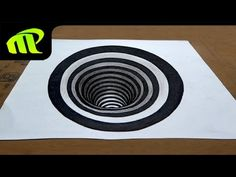 Drawing a round Hole - Anamorphic Illusion | Trick Art - YouTube