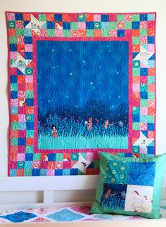 Wee Wander Firefly Border Quilt...so excited for this line.  It's my favorite by Sarah Jane since her Children at Play line.