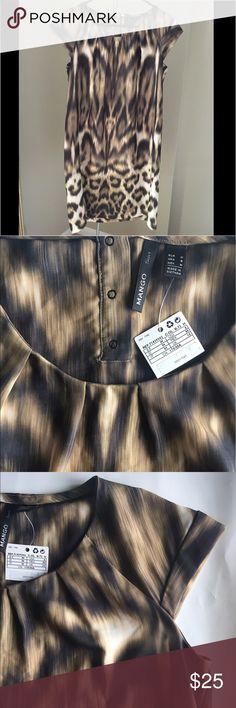 NEW - Mango Tiger print dress Brand new with tags. Mango tiger print dress in size M. Mango Dresses Mini