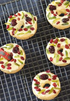 You'll find space for Mary-Anne's white chocolate and pistachio shortbread biscuits.