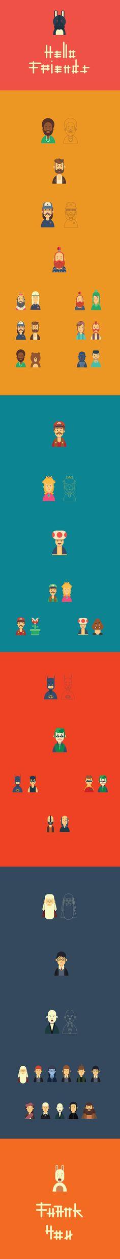 "Ознакомьтесь с моим проектом @Behance: «""Hello friends"" character flat design» https://www.behance.net/gallery/52188049/Hello-friends-character-flat-design"