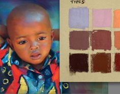 Perfect your portrait paintings with great skin tones using these painting techniques and color mixing tools in a variety of mediums. Skin Color Chart, Color Charts, Skin Paint, Different Skin Tones, Paint Color Palettes, Pastel Portraits, Dark Skin Tone, Pale Skin, Pastel Art