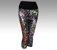 Womens Yoga Capris  Yoga Pants  Yoga Leggings  Exercise #yoga #capris #stretchpants #workout #coolpants #gym #outerwear #art #originalpaintng #streetartist #clothing #unisex #headgear #cool #fashionista #lifestyle #fashion #musthave #gift #abstract #modern #contemporary #unique #artista #accessories  #women #sexy #graffiti #streetart