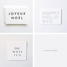 Christmas Cards from In Haus Press