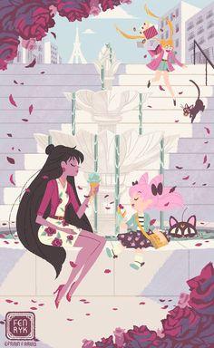 Sailor Moon / Pluto and Chibi Moon: