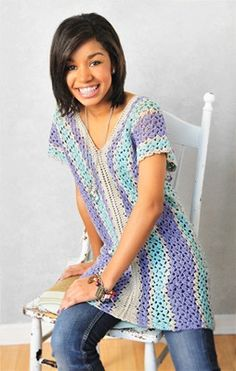 Craft Ideas : Projects : Details : crocheted-tunic ~ really simple and something I would actually make for myself!