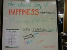 Work done by Hapacus Teacher Jamie Schoepke on the International Day of Happiness