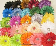 YOU PICK 12 1 Dozen  Gerber Daisy Flower 4 by DoodlebugAccessories, $10.20