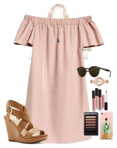 """""""Last day of tennis camp"""" by auburnlady liked on Polyvore featuring Aerie, The Casery, Trilogy, Michael Kors, Jessica Simpson, Ray-Ban and Kendra Scott"""