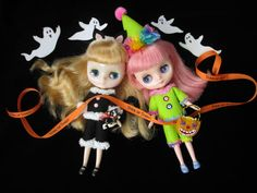 Middie Blythe Cat and Clown Halloween Costumes....Handmade by KittyKatDance