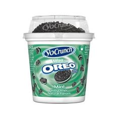 YoCrunch Vanilla Lowfat Yogurt with Cool Mint Creme Oreo Cookie... ($0.67) ❤ liked on Polyvore featuring food