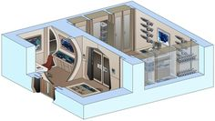 Star Trek Interior Drawings - USS Saratoga by bobye2 on DeviantArt