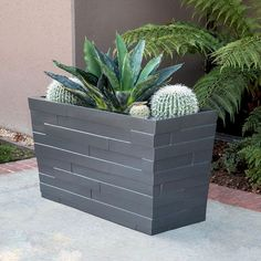 Modern Outdoor Planters for Your Outdoor Space. The best sort of wooden planters is created from hardwoods, naturally. There are a lot of different wooden planters in the marketplace and they'… Resin Planters, Fiberglass Planters, Modern Planters, Outdoor Planter Boxes, Rectangular Planters, Garden Boxes, Garden Ideas, Small Space Gardening, Garden Design