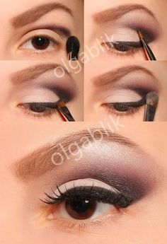 Eye make up - i think it still needs mascara on bottom, but pretty