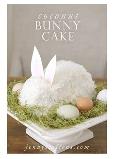 Jenny Steffens Hobick: Easter Bunny Cake | Continuing Grannys Tradition | Coconut Cake Like, Comment, Repin !!