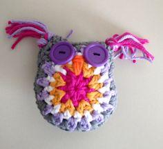 Owl Stuffed Owl Crochet Hootie Toy Pincushion by CraftyPastimes